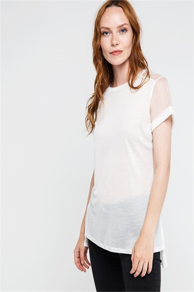 RUE T-SHIRTS WITH DETAILED BACK ECRU