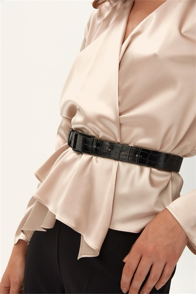 FAUX CROCO BELT