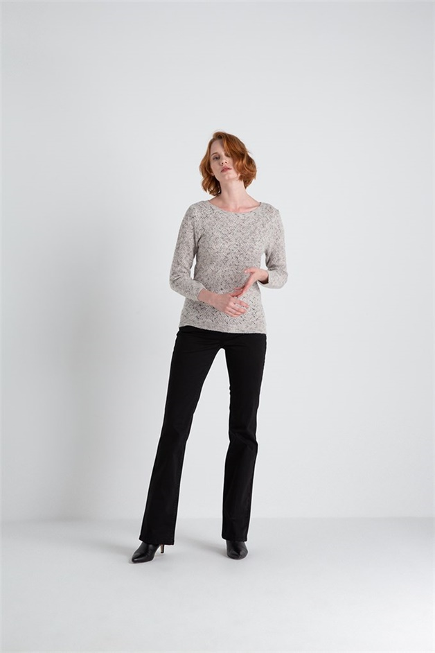Knitwear With Knit Detail ivorymel