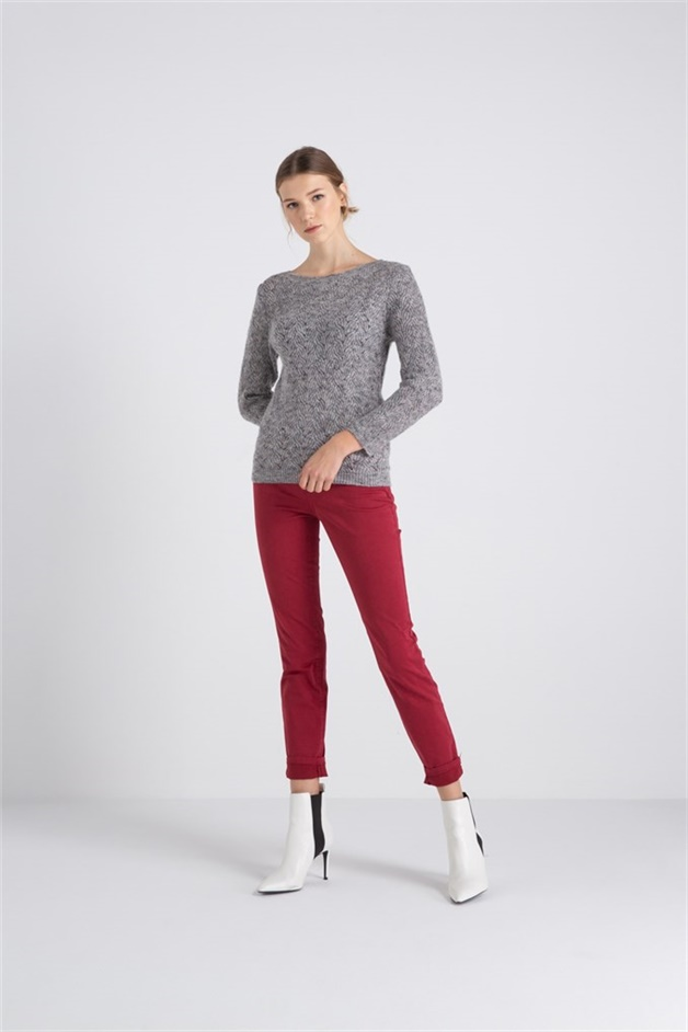 Knitwear With Knit Detail Greymel