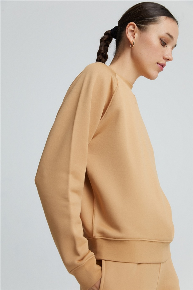 Camel Basic Sweatshirt